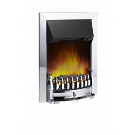Dimplex Stamford Chrome Optiflame Electric Inset Fire