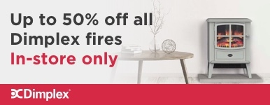 Up To 50% Off All Stock Dimplex Fires